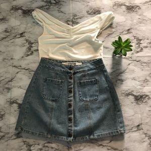 Brandy Melville Armelle Denim Skirt